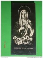 """Madonna Delle LACRIME Di SIRACUSA - Anno 195-  Santino / TESSERINO """" I Primi 5 Sabati Del Mese """" - Santini"""