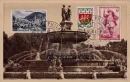 Carte Postale - Aix En Provence - Timbre Et Cachet Exposition Philatelique Paris 1959 - EUROPA -  (voir Scan). - Marcophilie (Lettres)