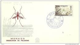 MONACO - 6 6 1962  FDC MALARIA - Disease
