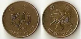 Hongkong  50 Cents  1993 - Hong Kong