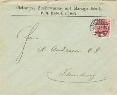 0551. Carta LUBECK (Alemania Reich) 1902. Comercial Cichorien, Zuckerwaren, Marzipan - Cartas