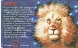 TARJETA DE SAN MARINO DE HOROSCOPOS - LEO  (NUEVA-MINT) LEON-LION - Zodiaco