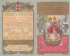 CARD  CALENDARIETTO   PUBBLICITARIO GRANDE LOTTERIA NAZIONALE 1911     STEMMI TORO LUPA ROMANA --2---0882-14969-970 - Petit Format : 1901-20