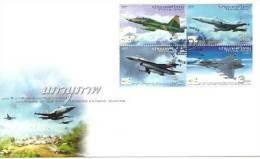 THAILANDE.  Royal Thai Air Force. Avions F5-B, F-5E,F-16 ADF,Saab Gripen C.  FDC 2012 - Militaria