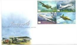 THAILANDE.  Royal Thai Air Force. Avions Grumman F8F, F-84 Thunderjet, F-86 Sabrejet,Northrop F-5A. FDC 2012 - Airplanes