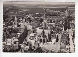ROYE 80 - Vue Aérienne : Eglise St Pierre - CPSM Dentelée GF N° 64-33 A - Somme - Roye