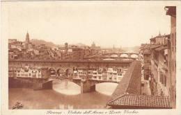 Italy Firenze Veduta dell'Arno e Ponte Vecchio