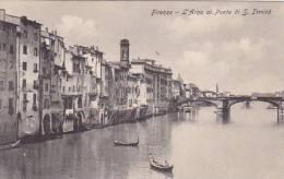 Italy Firenze L'Arno al Ponte di San Trinita