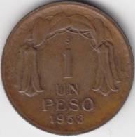 @Y@   Chili  1 Peso 1953  High Grade  (C311) - Chili