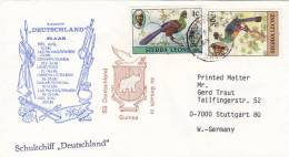 """Marine Schiffspost: Schulschiff """"Deutschland"""", 59. AAR, Stempel: In Guinea,  PostStempel: Sierra Leone 2.APR.1984 - Marítimo"""