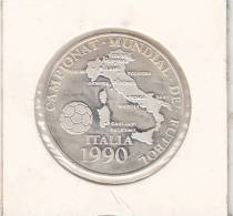 ANDORRA - Championat Mundial De Futbol Italia 1990, Silver Coin 10 Diners, 1989 - Andorre