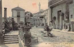 Philippeville - Le Jardin Du Musée Et Minaret De La Mosquée - Skikda (Philippeville)