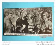 ASSISI Basilica Inferiore - Madonna Col Figlio Tra S.FRANCESCO E S.Giovanni - Santino - Santini