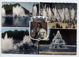 VERSAILLES--1971--Les Grandes Eaux--Vues Diverses Et Louis XIV  En Blason,cpsm 10 X 15 éd Raymon--pas Courante - Versailles