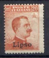Egeo Lipso 1917 Sass.9 */MH VF/F - Aegean (Lipso)
