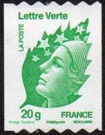 France Roulette Autoadhésif N°  608 ** Marianne De Beaujard 20 Grammes Verte ( Vitesse Lente) - Rollen