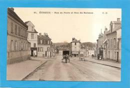 D27 - EVREUX - RUE DE PARIS ET RUE DU BUISSON (ATTELAGE AVEC CHEVAL)- état Voir Descriptif - Evreux