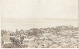 Agana Guam, Panoramic View Of Town, Beach, C1910s Vintage Real Photo Postcard - Guam