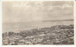 Agana Guam, Panoramic View Of Town, Beach, Caption On Photo, C1910s Vintage Real Photo Postcard - Guam