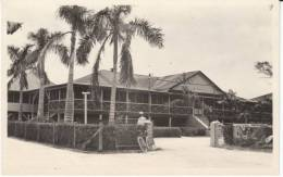 Guam, Naval And Marine Hospital, Bicycle, US Military Oceania, C1910s Vintage Real Photo Postcard - Guam