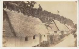 Agana Guam, Residential Street Scene, Huts, C1910s/20s Vintage Real Photo Postcard - Guam