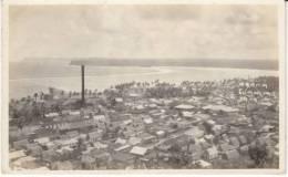 Agana Guam, Panoramic View Of Town & Beach Ocean, C1910s Vintage Real Photo Postcard - Guam