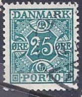 Denmark, Scott #J34-7 Used Numeral, Postage Due, 1937-53 - Port Dû (Taxe)
