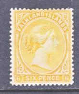 Kalkland Islands  16  Orange Yellow   * - Falkland Islands