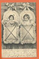 S045, 2 Bébés, Précurseur,  Circulée 1905 - Neonati