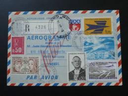 Lettre  Cover Vol Concorde Flight Paris Rio Oblitération Roissy Charles De Gaulle 1er Juin 1974 - Concorde
