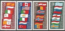 Bulgaria 1982 Nuovo** - Yv. 2737/40 Copperazione In Europa / Bandiere - Francobolli