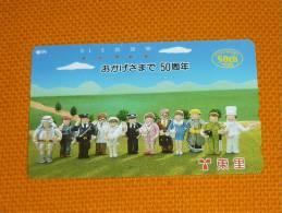 Police/Policeman/Air Stewardess/Chef/Pilot - Japan Phonecard - Policia