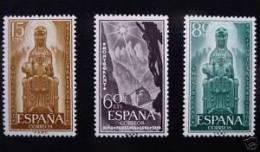 España 1956. Serie Completa Montserrat. Oxido En La Goma. Ed 1192 / 1194. MNH. **. - 1951-60 Ungebraucht