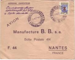 Timbre YT 177 Seul Sur Lettre De Bobo Dioulasso à Nantes Du 23/10/1967 - Haute-Volta (1958-1984)