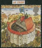 1995 - Europe - Grande-Bretagne - Théatre Londonien Sous Elisabeth 1er - 25 P.  Le Globe ( 1614 ) - - Used Stamps