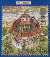 1995 - Europe - Grande-Bretagne - Théatre Londonien Sous Elisabeth 1er - 25 P. Le Cygne  ( 1595 ) - - Used Stamps