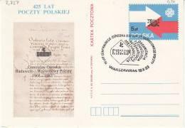 Polen-Warzawa 1983. Gedrucktes Plakat über Postgeschichte (2.727) - 1944-.... Republik
