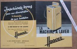 """Brochure """"Machine à Laver """"Hoover"""" Rue Hydraulique, Bruxelles - Vieux Papiers"""
