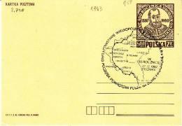 Polen-Poznan 1983. Landkarte Im Stempel (2.728) - 1944-.... Republik
