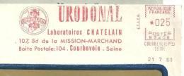 """Médicament, Laboratoire, Chatelain, Rein, """"Urodonal"""", Courbevoie - EMA Secap N - Enveloppe Entière   (K613) - Farmacia"""