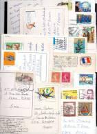 31 Cartes En Bon état Avec ( Timbre Du Monde ) Cachet Diver. - Cartes Postales