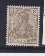 ALLEMAGNE N° 67 3P BRUN LEGENDE DEUTSCHES REICH E DE DEUTSCHES EFFACE EN BAS NEUF AVEC CHARNIERE - Unused Stamps