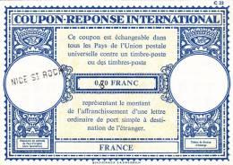 Coupon-réponse France 0,70 Corrigé 0,80 + Griffe Nice St Roch - Biglietto Postale