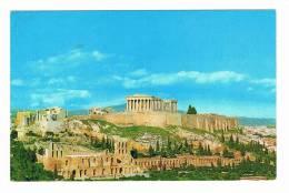 GRIEKENLAND OUDE POSTKAART 40 JAAR OUD ATHENE  ACROPOLIS - Grèce