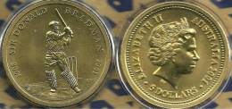 AUSTRALIA $5 DOLLARS DONALD BRADMAN CRICKET SPORT  FRONT QEII HEAD BACK 2001 UNC READ DESCRIPTION CAREFULLY !! - 5 Dollars