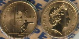 AUSTRALIA $5 DOLLARS WORLD GAMES RUGBY SPORT FRONT 1 YEAR TYPE QEII HEAD BACK 2003 UNC READ DESCRIPTION CAREFULLY!! - Moneda Decimale (1966-...)
