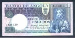 ANGOLA - Beau Billet Neuf De 20 Escudos - 1973 - Camöes - UNC Rare - Angola