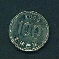SOUTH KOREA  -  2000  100 Won  Circulated As Scan - Korea, South
