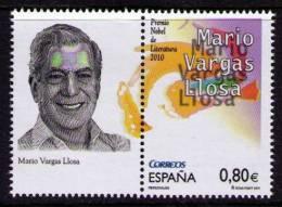 ESPAÑA 2011 - MARIO VARGAS LLOSA - PREMIO NOBEL - Edifil Nº 4672 - 1931-Hoy: 2ª República - ... Juan Carlos I