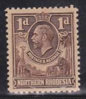 Northern Rhodesia, 1925, SG 2, Mint Hinged - Rhodésie Du Nord (...-1963)